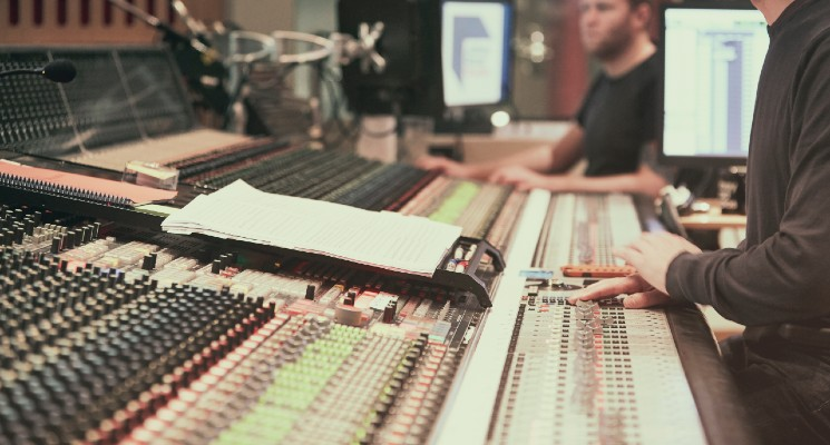 abbey road studios mixing desk audio network stock music