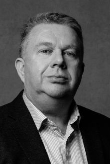 Black and white headshot of Sean Ronan, Head of Technology for Audio Network