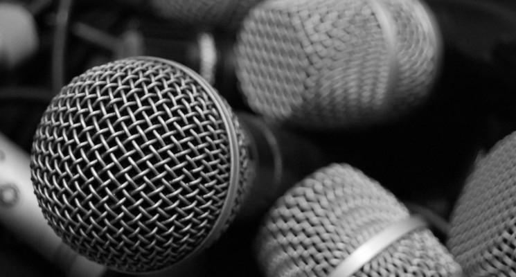 up cloe image of microphones background music for presentations and slideshows audio network
